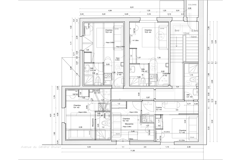 plan deuxieme etage