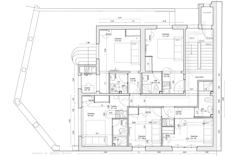 plan etage inferieur
